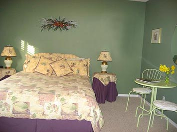 Spacious rooms at Off our Rockies bed and breakfast Canmore